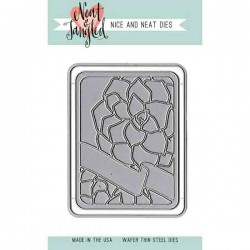 Neat & Tangled Succulent Journaling Card Die