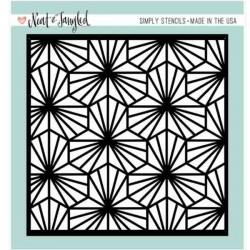 Neat & Tangled Geometric Blooms Stencil
