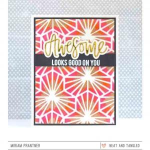 Neat & Tangled Geometric Blooms Stencil class=
