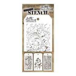 Tim Holtz Mini Layering Stencil, Set #10