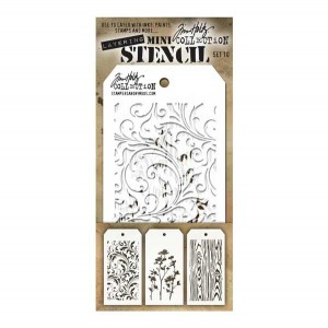 Tim Holtz Mini Layering Stencil, Set #10
