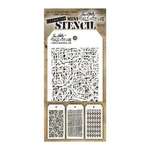 Tim Holtz Mini Layering Stencil, Set #14
