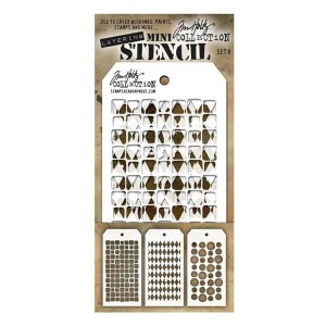 Tim Holtz Mini Layered Stencils, Set #9 class=