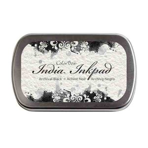 Color Box India Inkpad - Archival Black class=