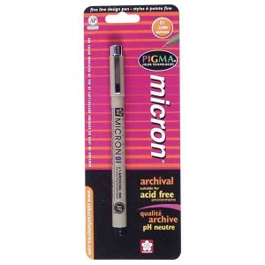 Pigma® Micron® Black Fine Line Design Pen - .25mm class=