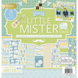 DCWV Cardstock Stack - The Little Mister class=