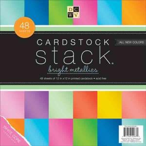 DCWV Cardstock Stack - Bright Metallics