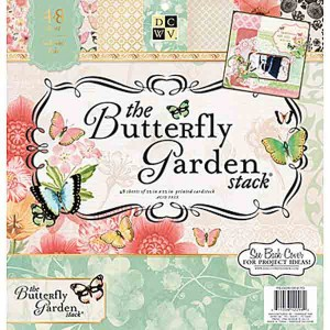 DCWV Cardstock Stack - The Butterfly Garden class=