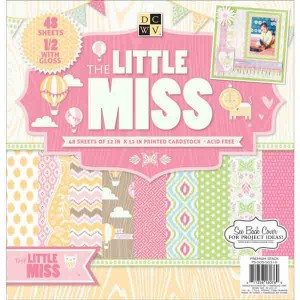 DCWV Cardstock Stack - The Little Miss class=