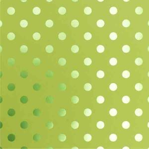 Bazzill Polka Dot Foil Cardstock - Easter Grass