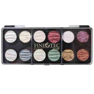 Finetec Artist Mica Watercolor Paint - Pearl Colors