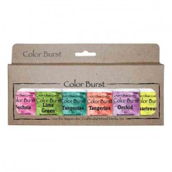 Ken Oliver Color Burst Watercolor Powders - Caribbean Brights