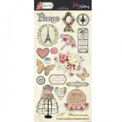 Julie Nutting Belle Vie Adhesive Chipboard