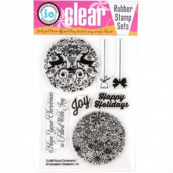 Impression Obsession Round Ornaments 1 Stamp Set