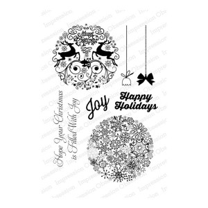 Impression Obsession Round Ornaments 1 Stamp Set class=