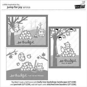"Lawn Fawn Jump for Joy Stamp Set <span style=""color:red;"">Reserve-more on their way</span> class="