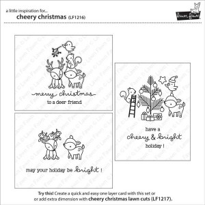 Lawn Fawn Cheery Christmas Stamp Set class=