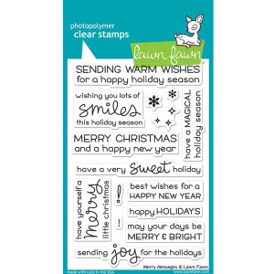 Lawn Fawn Merry Messages Stamp Set