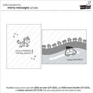 Lawn Fawn Merry Messages Stamp Set class=
