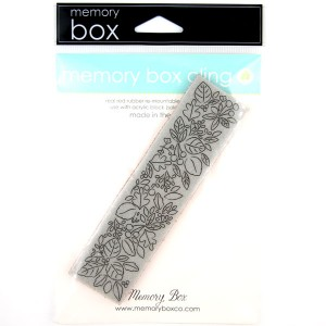 Memory Box Blooming Leafy Border Stamp