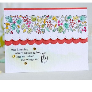 Memory Box Blooming Leaf Border Stamp class=