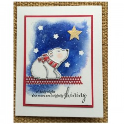 Memory Box Brightly Shining Cling Stamp