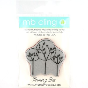 Memory Box Central Park Trees Cling Stamp class=