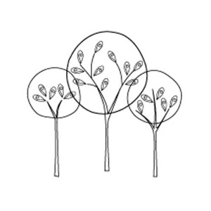 Memory Box Central Park Trees Cling Stamp