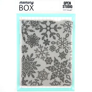 Memory Box Dancing Snowflake Cling Stamp