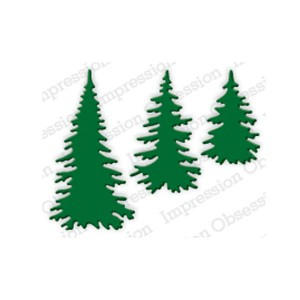 Impression Obsession Evergreen Trees Die Set class=