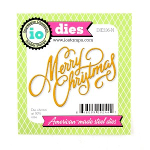 Impression Obsession Merry Christmas Die