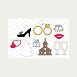Impression Obsession Wedding Icons Die Set