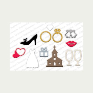 Impression Obsession Wedding Icons Die Set class=