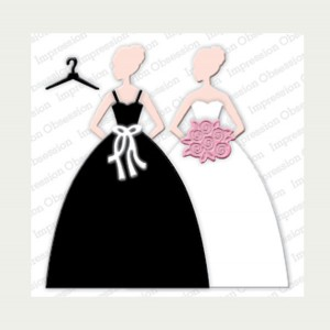 Impression Obsession Gown Die Set class=