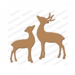 Impression Obsession Deer & Doe Die Set