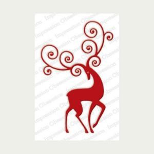 Impression Obsession Reindeer Flourish Die class=