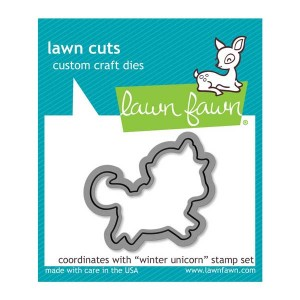 Lawn Fawn Winter Unicorn Lawn Cuts