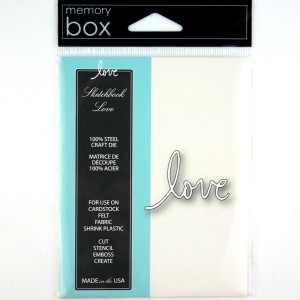 Memory Box Sketchbook Love Craft Die class=