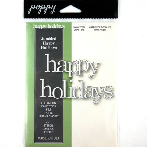 Poppystamps Jumbled Happy Holidays Craft Die class=