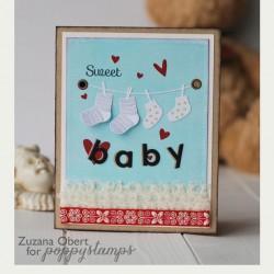 Poppystamps Baby Socks Craft Die