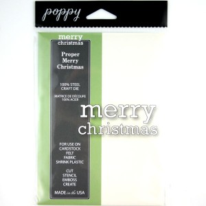 Poppystamps Proper Merry Christmas Craft Die class=