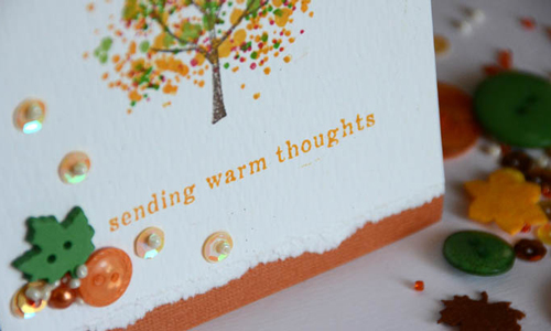 As you can see sometimes one simple small cluster is all you need. I just love how this card turned out – so much detail and yet so simple and a single stamp set and embellishment kit.