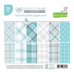 "Lawn Fawn Perfectly Plaid Winter Petite Paper Pack - 6"" x 6"""