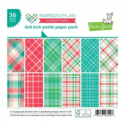 "Lawn Fawn Perfectly Plaid Christmas Petite Paper Pack - 6"" x 6"""