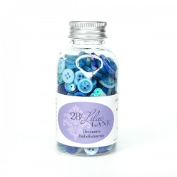 28 Lilac Lane Winter Blues Embellishment Bottle