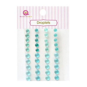 Queen & Co. Translucent Resin Droplets - Teal