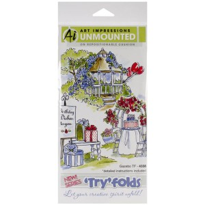 Art Impressions Gazebo Try'folds Cling Rubber Stamps class=