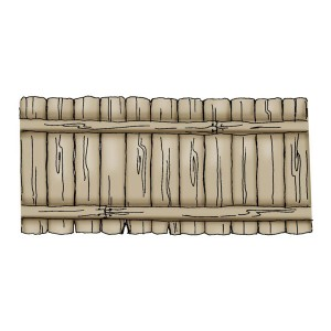 Art Impressions Fence Front-N-Backs Cling Rubber Stamp