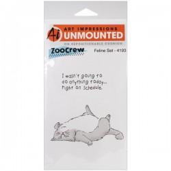 Art Impressions Feline Set Cling Rubber Stamp