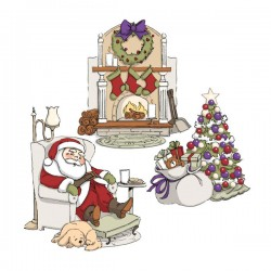 Art Impressions Sleepy Santa Try-Fold Cling Stamp Set